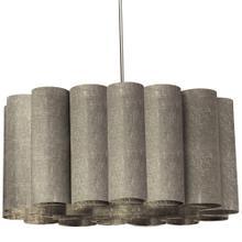 4lt Sandra Pendant Milano Grey Polished Chrome