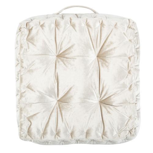 Peony Floor Pillow - White