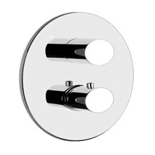 "TRIM PARTS ONLY External parts for 3-way diverter thermostatic and volume control Single backplate 1/2"" connections Vertical/Horizontal application Anti-scalding Requires in-wall rough valve 09279"