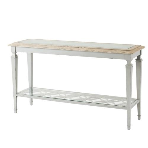 Rectangular Sofa Table - Antique Oak/chipped Gray Finish