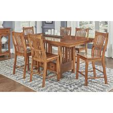 7 PIECE PUB SET (EXTENSION PUB TABLE AND 6 BARSTOOLS)