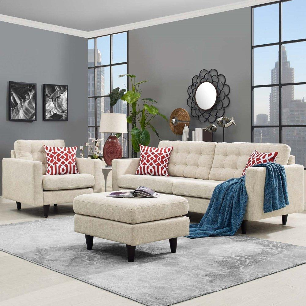 Empress Armchair and Sofa Set of 2 in Beige