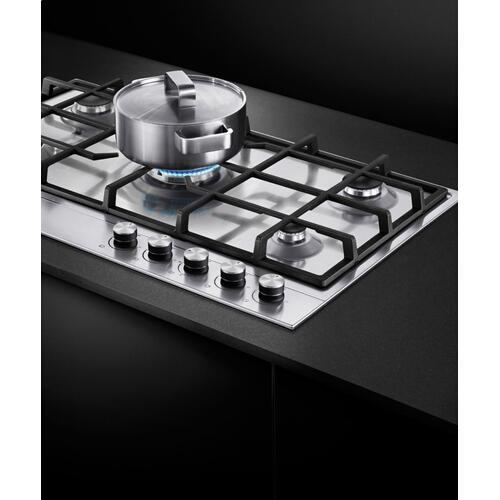 "Gas on Steel Cooktop, 36"", LPG"