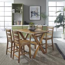 See Details - Forest Retreat 5 Piece High Dining Set