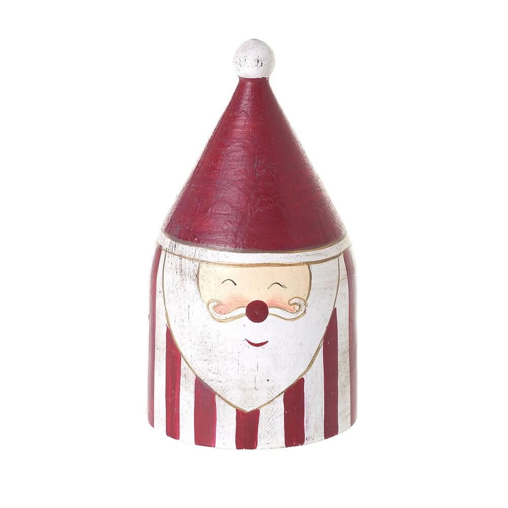 """See Details - Candystripe Santa Collection (Shape:Figurine, Size:1.75""""x 3.25"""", Color:Red)"""
