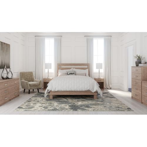 Full Platform Bed With Dresser