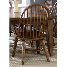 View Product - Bow Back Arm Chair - Oak