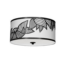 3lt Flush-mount P Chrome Black & White Shade