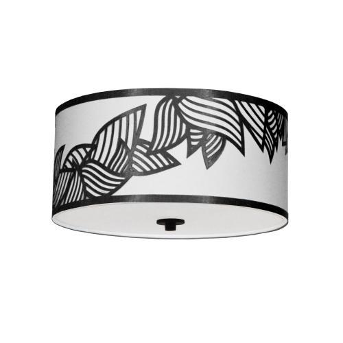 3lt Flush-mount P Chrome Black & White Shade