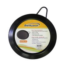 See Details - Brentwood BCM-21 8.5-Inch Carbon Steel Non-Stick Round Comal Griddle, Black