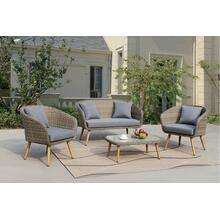 4 Piece Retro Patio Set