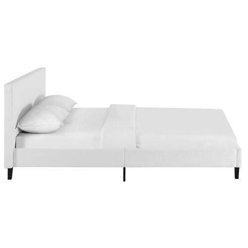 Anya Full Fabric Bed in White