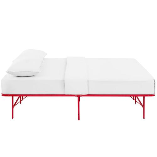 Horizon Full Stainless Steel Bed Frame in Red