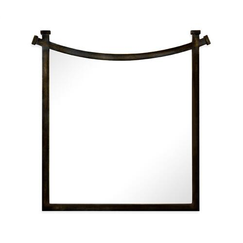 Bronze iron mirror with curved top
