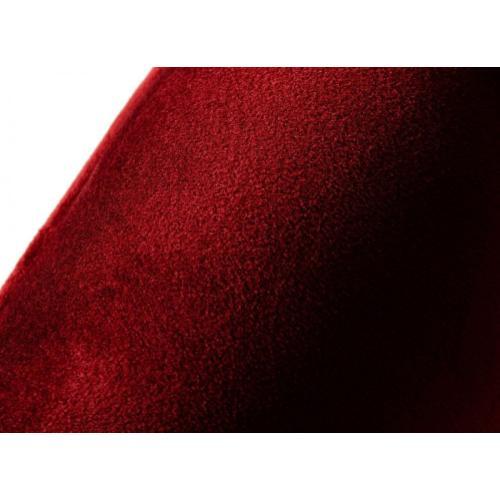 Modrest Barker - Modern Red & Brush Gold Dining Chair (set of 2)