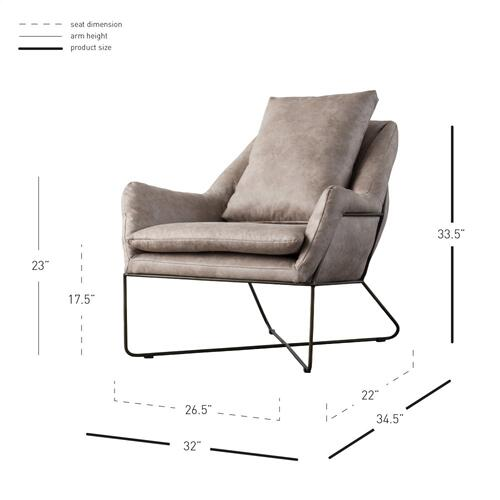 Sydney Fabric Arm Chair, Devore Gray