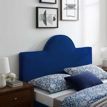 Dawn Twin Performance Velvet Headboard in Navy