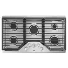 "GE 36"" Built-In Deep-Recessed Edge-to-Edge Gas Cooktop Stainless Steel - JGP5036SLSS"