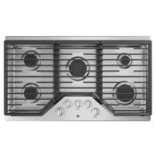"See Details - GE 36"" Built-In Deep-Recessed Edge-to-Edge Gas Cooktop Stainless Steel - JGP5036SLSS"