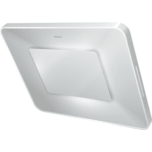 Wall ventilation hood with dimmable ambient lighting for a unique lighting mood in your kitchen.