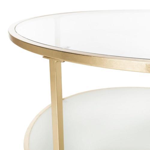 Safavieh - Ivy 2 Tier Round Coffee Table - Gold
