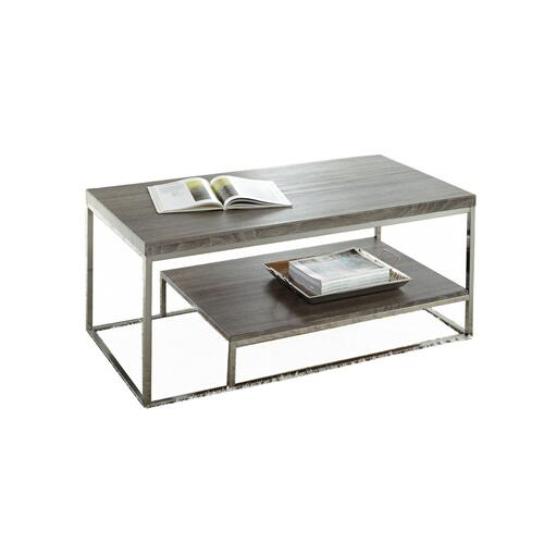Lucia Cocktail Table Gray/Black Nickle
