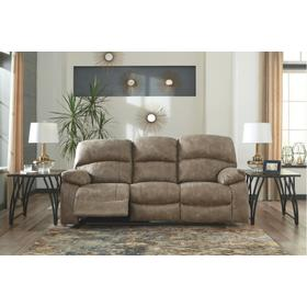 Power Reclining Sofa With Adjustable Headrest Dunwell Driftwood