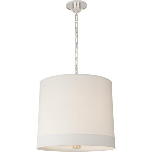 Visual Comfort BBL5110SS-S Barbara Barry Simple Banded 2 Light 24 inch Soft Silver Pendant Ceiling Light