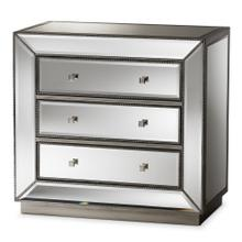 See Details - Baxton Studio Edeline Hollywood Regency Glamour Style Mirrored 3-Drawer Chest