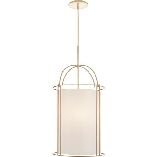 Visual Comfort BBL5058SB-S Barbara Barry Capitol 4 Light 18 inch Soft Brass Foyer Lantern Ceiling Light, Barbara Barry, Narrow, Silk Shade