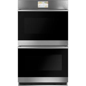 "Cafe Appliances30"" Smart Double Wall Oven with Convection in Platinum Glass"