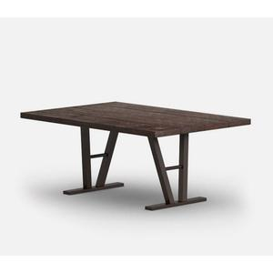 """42"""" x 62"""" Rectangular Dining Table (no Hole) Ht: 27.5"""" Architectural Aluminum Base (Model # Includes Both Top & Base)"""