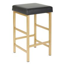"""Backless 26"""" Counter Height Bar Stool Gold Frame"""
