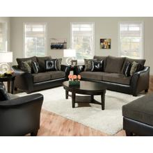 Pinnacle PU Gray Combo Sofa