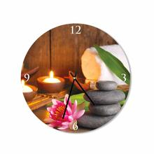 Stones and Lotus Flower Round Square Acrylic Wall Clock