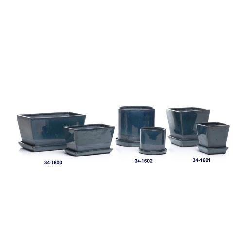 Kodiak Petits Pot w/ attached saucer, Square - Set of 2 (Min 4 sets)