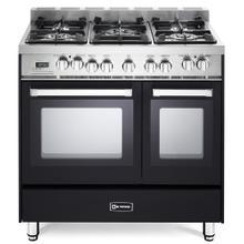 "See Details - Matte Black 36"" Dual Fuel Double Oven Range - 'N' Series"
