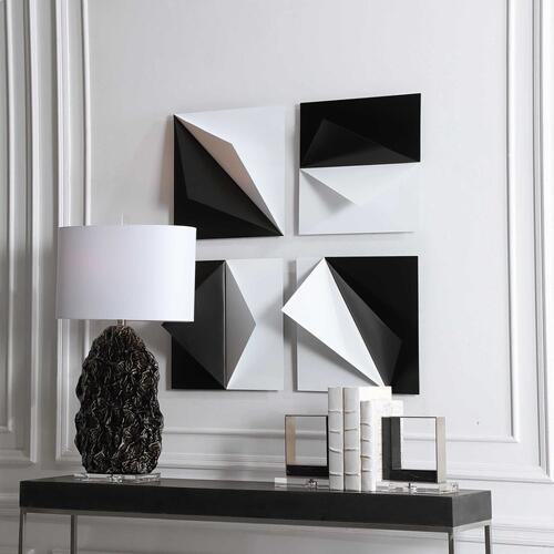 Origami Metal Wall Decor, S/4