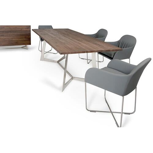 Modrest Wharton Modern Dark Aged Oak Dining Set