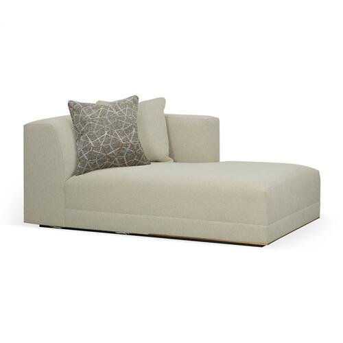 Geometric Right Arm Chaise Lounge