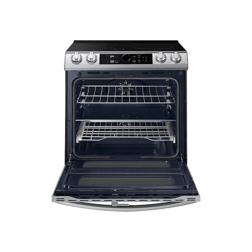 Samsung - 6.3 cu. ft. Smart Slide-In Induction Range with Flex Duo™, Smart Dial & Air Fry in Stainless Steel