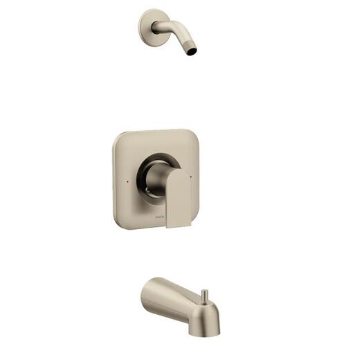 Genta brushed nickel posi-temp® tub/shower