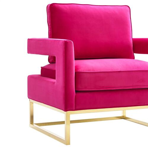 Avery Pink Velvet Chair