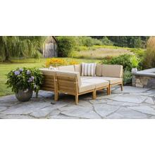 View Product - Bali Outdoor Teak Wood Patio Daybed with Cushions