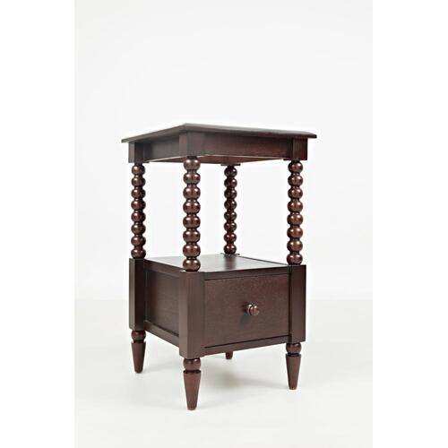 Merlot Spindle Chairside Table