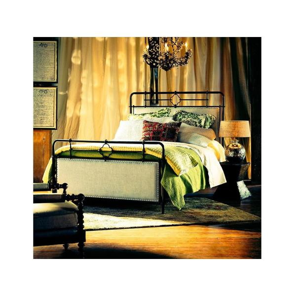 See Details - Upholstered Metal Queen Bed