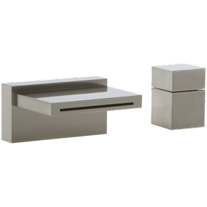 Quarto Deck Mount Tub Filler and Cube Control Brushed Nickel Product Image