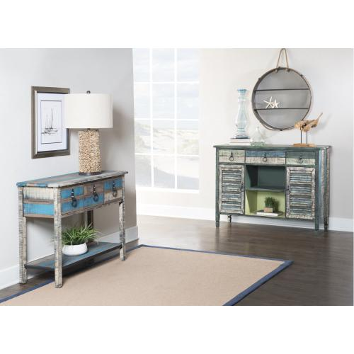 2-door and 3-drawer With 2-shelf Server, Colorful