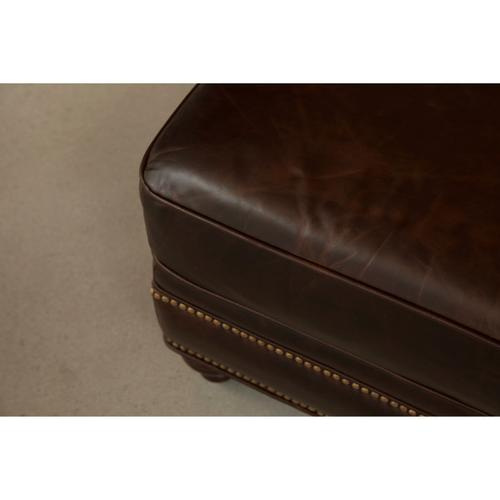 Traditional Ottoman with Brass Nail Head Trim