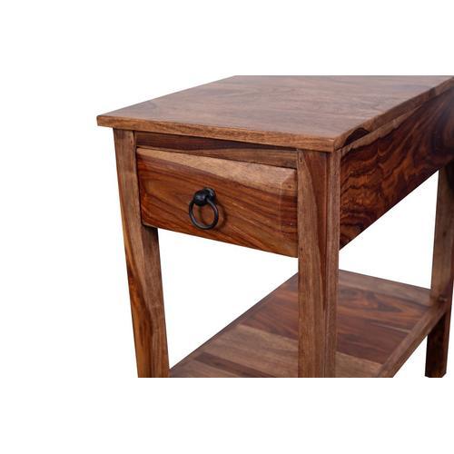 Porter International Designs - Sheesham Accents Harvest Chairside End Table, PDU-08HRU
